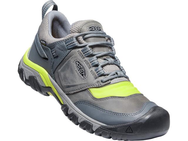 Keen Ridge Flex WP Shoes Men steel grey/evening primrose